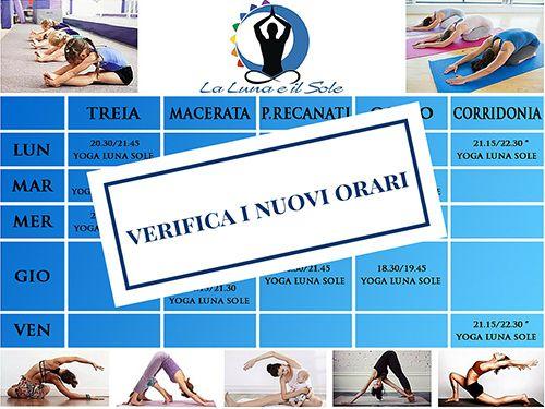 orari corsi di yoga